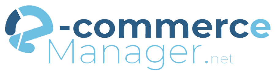 Logo e-commerce manager